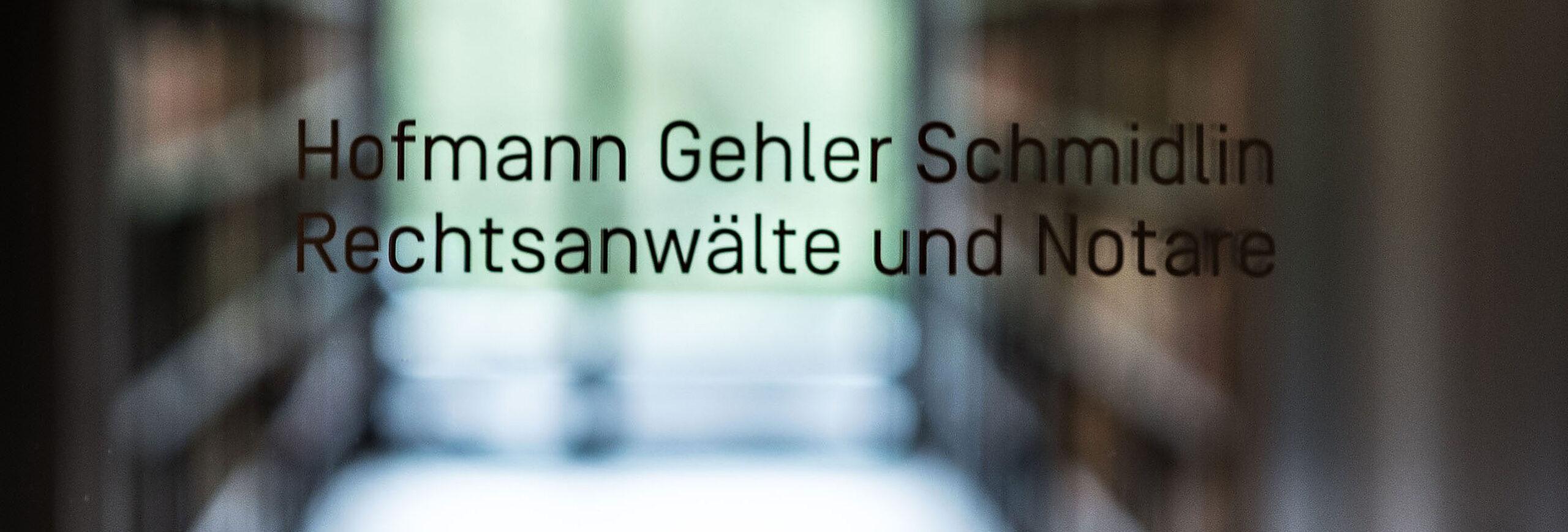 Hofmann Gehler Schmidlin